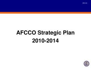 AFCCO Strategic Plan 2010-2014