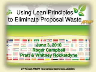 Using Lean Principles  to Eliminate Proposal Waste