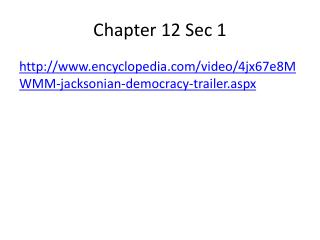 Chapter 12 Sec 1