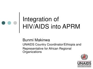 Integration of HIV/AIDS into APRM