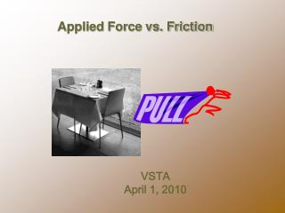 Applied Force vs. Friction