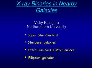 X-ray Binaries in Nearby Galaxies