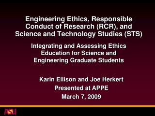 Integrating and Assessing Ethics Education for Science and Engineering Graduate Students