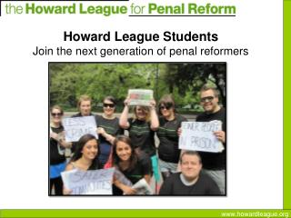 Howard League Students Join the next generation of penal reformers