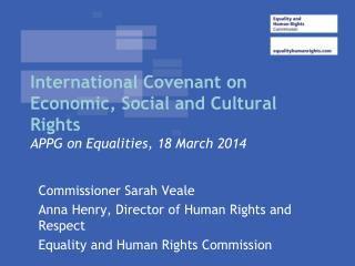 International Covenant on Economic, Social and Cultural Rights APPG on Equalities, 18 March 2014