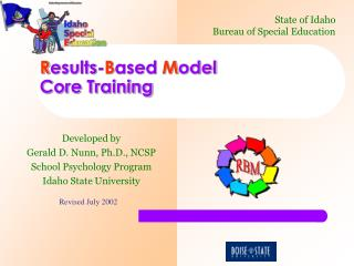R esults- B ased  M odel  Core Training
