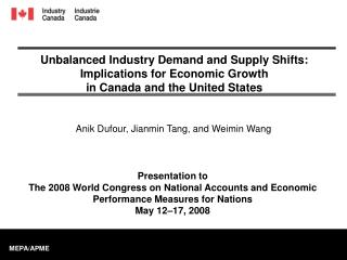 Unbalanced Industry Demand and Supply Shifts: Implications for Economic Growth