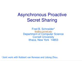 Asynchronous Proactive Secret Sharing