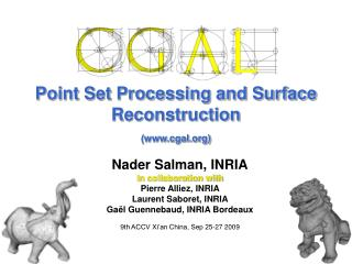 Point Set Processing and Surface Reconstruction (cgal)