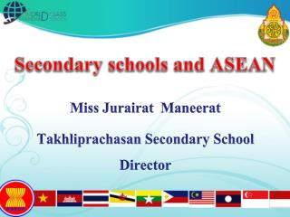 Secondary schools and ASEAN