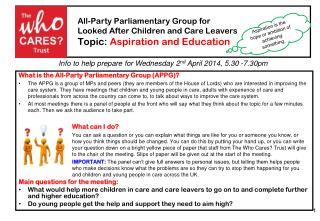 What is the All-Party Parliamentary Group (APPG)?