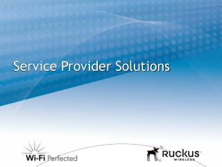 Service Provider Solutions