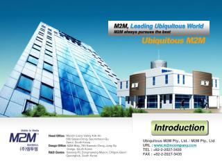 Ubiquitous M2M Pty., Ltd. / M2M Pty., Ltd
