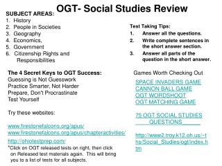 OGT- Social Studies Review