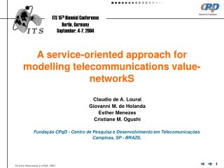 A service-oriented approach for modelling telecommunications value-networkS