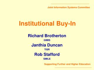 Institutional Buy-In
