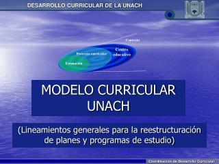 MODELO CURRICULAR UNACH