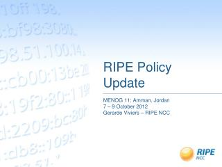 RIPE Policy Update