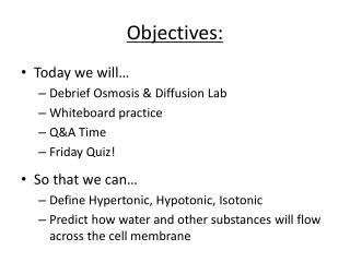 Quiz 5 Cellular Transport: Osmosis