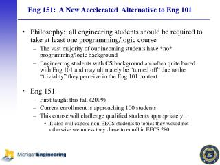 Eng 151:  A New Accelerated  Alternative to Eng 101