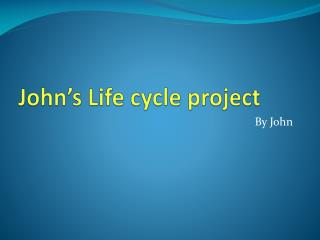 John's Life cycle project