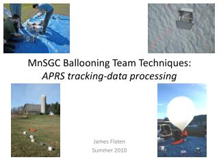 MnSGC Ballooning Team Techniques: APRS tracking-data processing