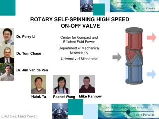 ROTARY SELF-SPINNING HIGH SPEED  ON-OFF VALVE