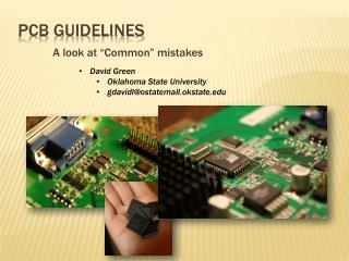 PCB guidelines