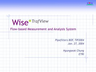 Wise * TrafView Flow-based Measurement and Analysis System