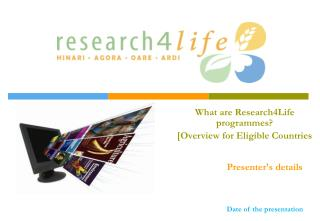 What are Research4Life programmes? [Overview for Eligible Countries