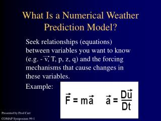 What Is a Numerical Weather Prediction Model?
