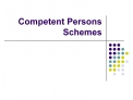 Competent Persons Schemes