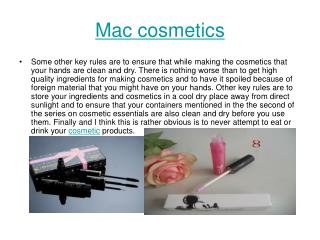 mac news cosmetics