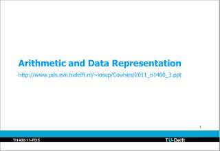 Arithmetic and Data Representation