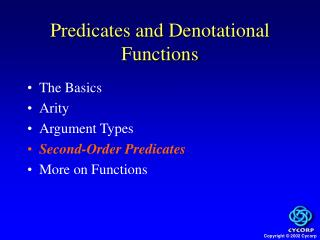 Predicates and Denotational Functions