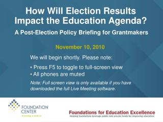How Will Election Results  Impact the Education Agenda?