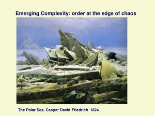 Emerging Complexity: order at the edge of chaos