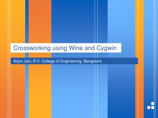 Crossworking using Wine and Cygwin
