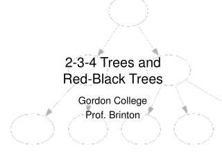 2-3-4 Trees and Red-Black Trees