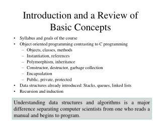 Introduction and a Review of Basic Concepts