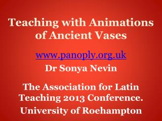 Teaching with Animations of Ancient Vases