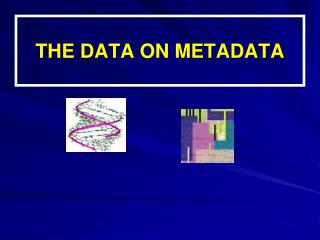 THE DATA ON METADATA