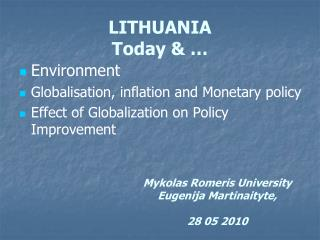LITHUANIA  Today & …