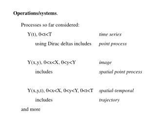 Operations/systems .