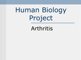 Human Biology Project