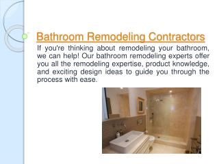 Bathroom Remodeling Diamond Bar