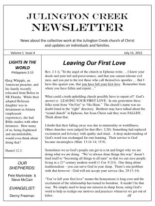 Julington Creek  NEWSLETTER
