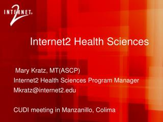 Internet2 Health Sciences