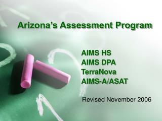 Arizona's Assessment Program