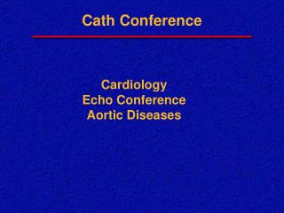 Cath Conference